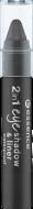 Тени для век и контур 2 в 1 Eyeshadow & Liner 2 in 1 Essence 04 black to the routes: фото