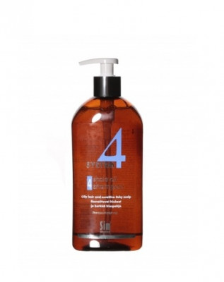 Шампунь терапевтический №4 для очень жирной, чувствительной и раздраженной кожи головы SIM SENSITIVE System4 500 мл: фото
