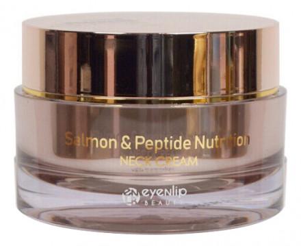 Крем для шеи с лососевым маслом Eyenlip SALMON & PEPTIDE NUTRITION NECK CREAM 50g: фото