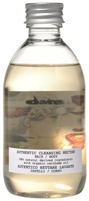 Шампунь-гель Очищающий нектар для волос и тела Davines AUTHENTIC CLEANSING NECTAR HAIR&BODY 280 мл: фото