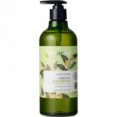 Шампунь очищающий для жирных волос Лимонный Мирт Ausganica 500мл: фото