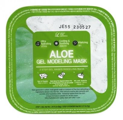 Альгинатная гелевая маска с алоэ (пудра+гель) Lindsay Aloe Gel Modeling Mask 50г+5г: фото