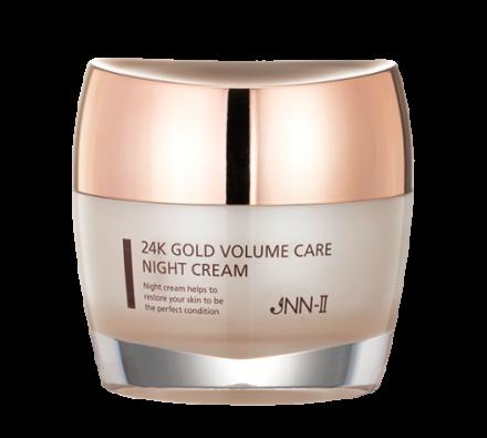 Крем для лица ночной с 24-каратным золотом JUNGNANI JNN-II 24K GOLD VOLUME CARE NIGHT CREAM 50мл: фото