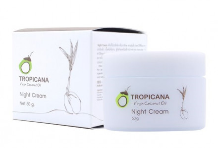 Крем для лица НОЧНОЙ TROPICANA Virgin Coconut Oil Night Cream 50мл: фото