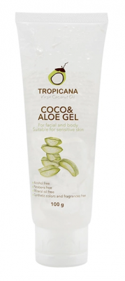 Гель для лица и тела КОКОС И АЛОЭ TROPICANA Coco & Aloe Gel 100мл: фото