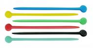 Шпильки для бигуди пластиковые Sibel 7,7см разноцветные 20шт: фото