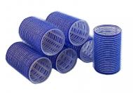 Бигуди на липучке Sibel 40мм синие 6шт: фото
