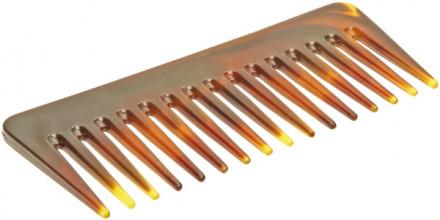 Гребень для волос большой TITANIA 14см желто-коричневый: фото