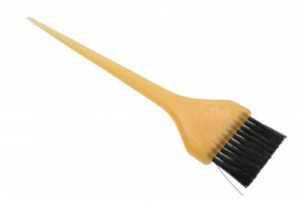 Кисточка для окрашивания широкая Sibel FROSTY желтая: фото