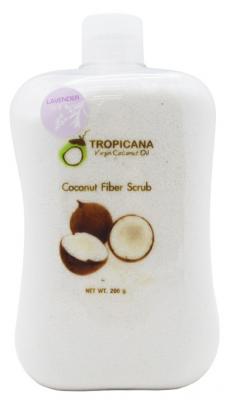 Скраб для лица и тела КОКОСОВАЯ СТРУЖКА И ЛАВАНДА TROPICANA Coconut Fiber Scrub 250г: фото