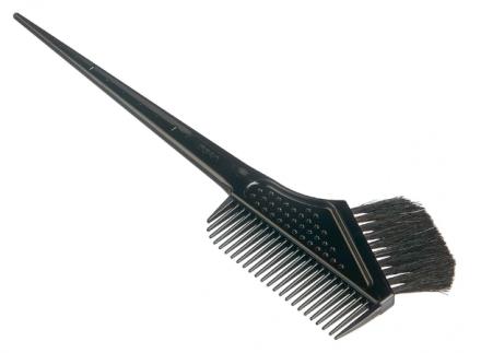 Гребень c щеткой для профессионального окрашивания волос большой Vess Hairdye brush comb: фото