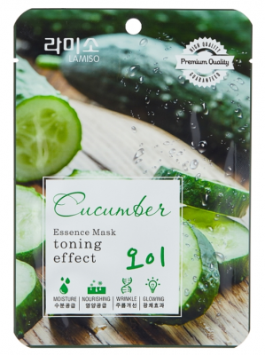 Маска с экстрактом огурца La Miso Essence Mask premium quality Cucumber 23г: фото