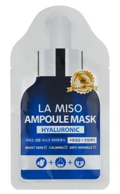 Маска ампульная с гиалуроновой кислотой La Miso Hyaluronic acid ampoule mask 25г: фото